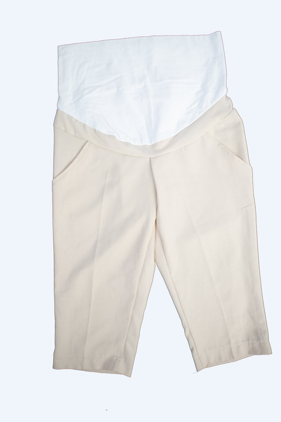 M Maternity Beige Dress Pant Capris