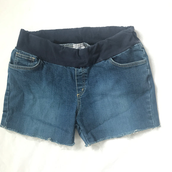 M Announcement Maternity Cut-Off Jean Shorts Size 10