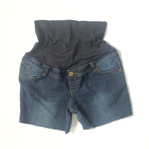 M Thyme Matenrity Cut-Off Jean Shorts