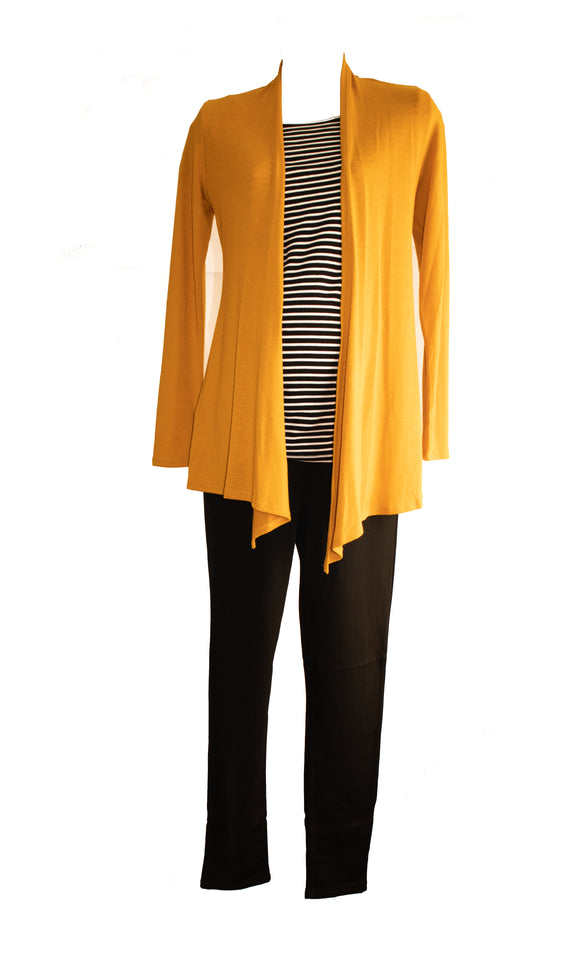 New Essential Maternity Knit Cardigan in Mustard