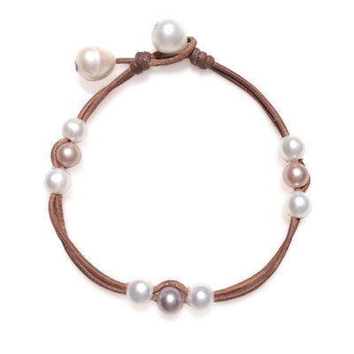 Naxos Freshwater Pearl Anklet Multicolor