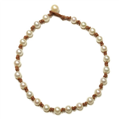 FWN All Around White Pearl Necklace