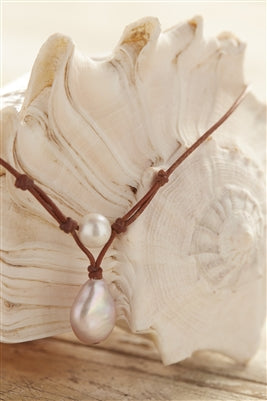 Grove freshwater pearl necklace, rose