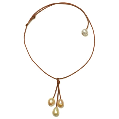 Rain Three Freshwater Necklace Multi