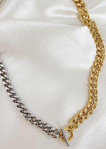 Ashley Two Tone Chain Necklace