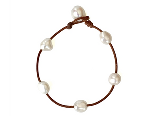 Milos Freshwater Pearl Anklet