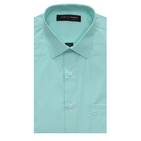 Slim Dress Shirt Mint Details