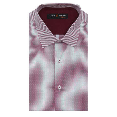 Slim Dress Shirt Nautical Red