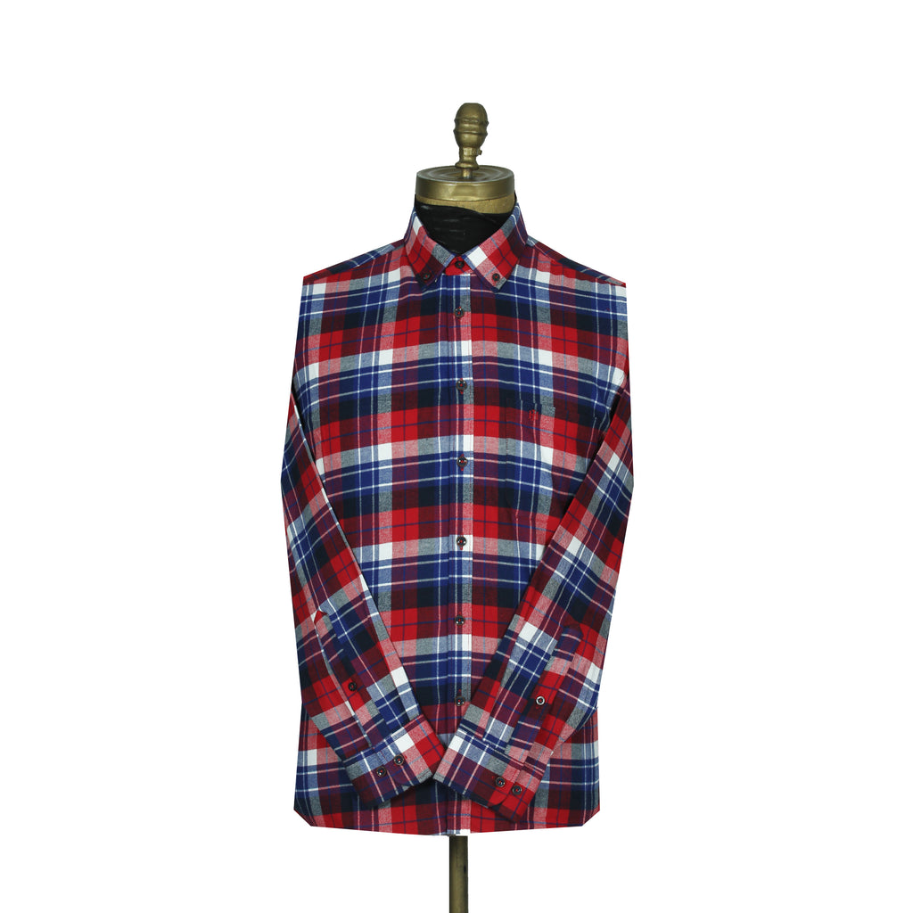 Sport Shirt Fannel Red Square