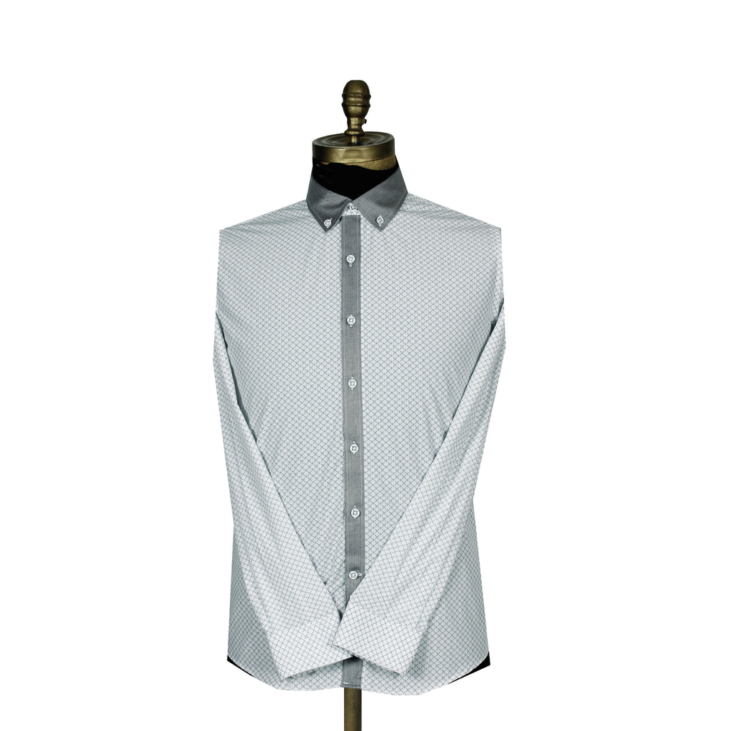 Sport Shirt Luxury Silver Button-Down