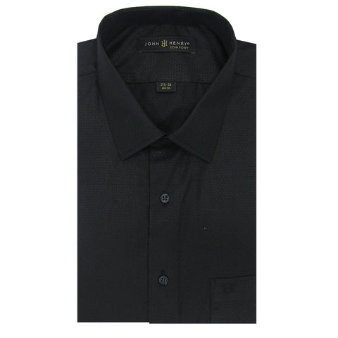 Comfort Dress Shirt Black 3D