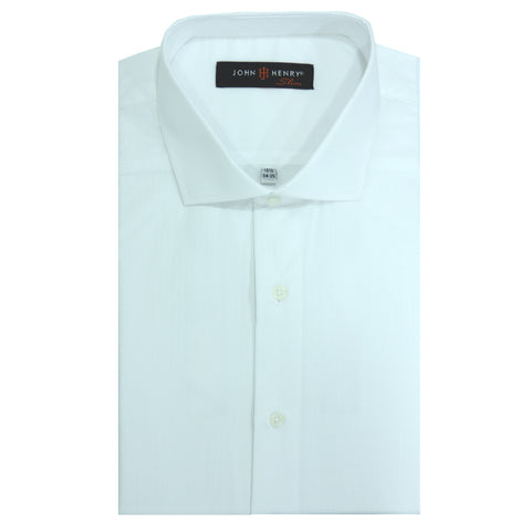 Slim Dress Shirt White & Texture