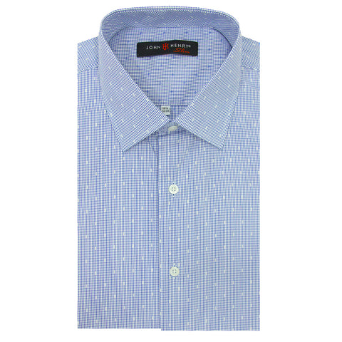 Slim Dress Shirt Blue & White