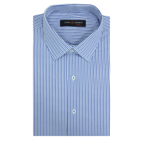 Slim Dress Shirt Lines Blue