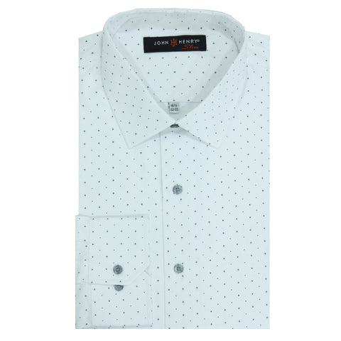 Slim Dress Shirt White & Points