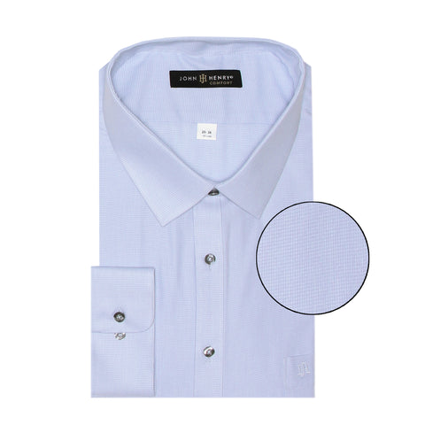 Comfort Dress Shirt Micropoints Sky
