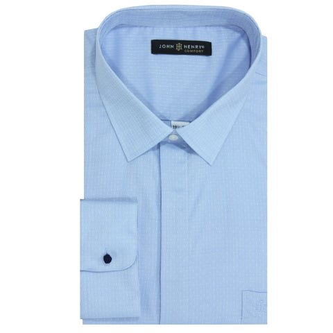 Comfort Dress Shirt Textured Sky