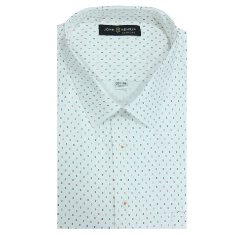 Comfort Dress Shirt White Textured & Design