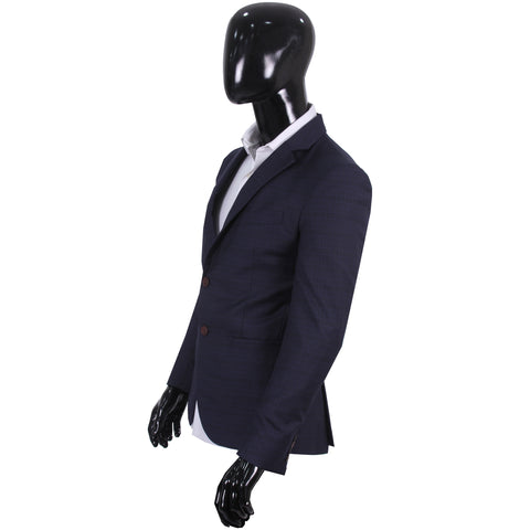 Studio Suit Jacket Textured Blue & Black