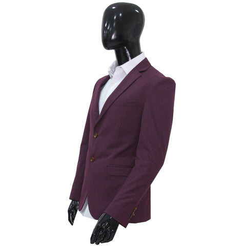 Studio Suit Jacket Wine