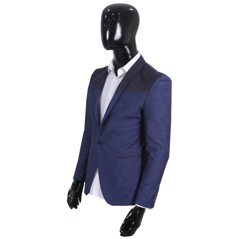 Studio Suit Jacket Blue & Black