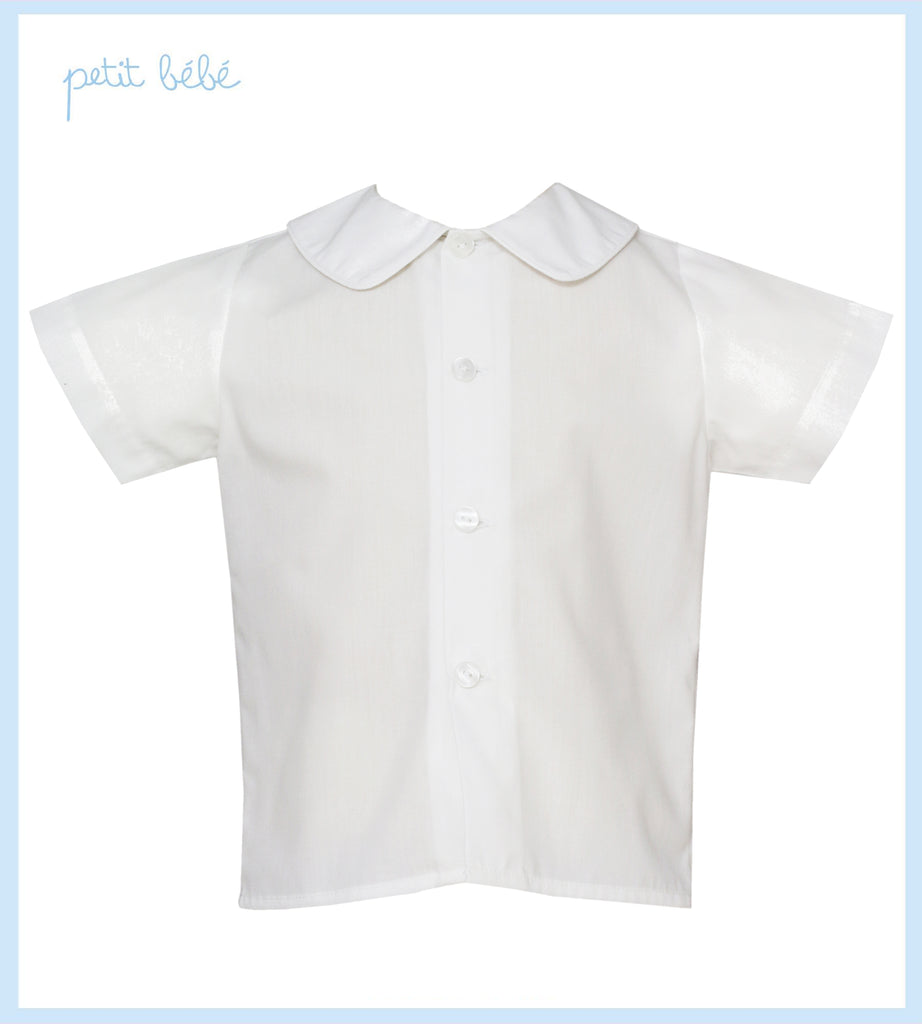 White Shirt With White Piping