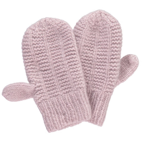 Storm Cashmere Mittens, Dusty Rose