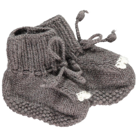 Cashmere Bear Bootees