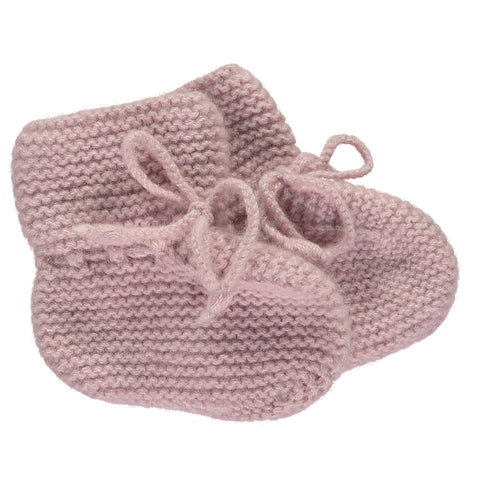 Cashmere Garter Bootees, Dusty Rose