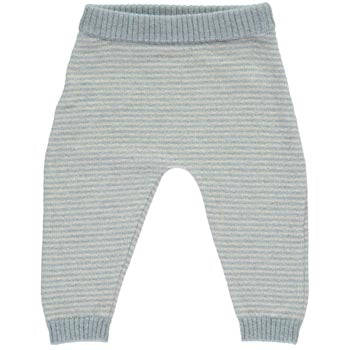 Cashmere Mini Stripe Trousers, Duck Egg