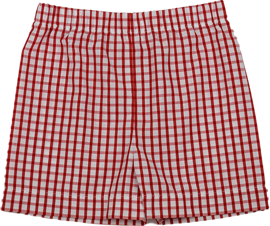 Stewart Short- Red Plaid