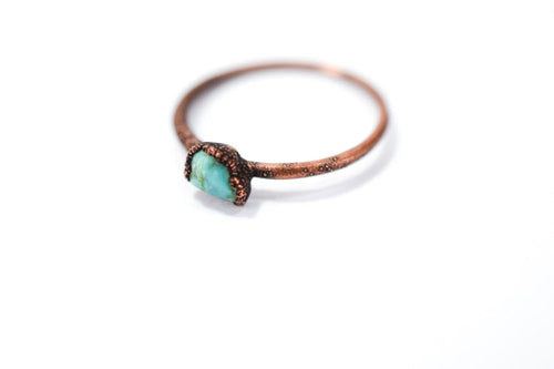 Tiny Turquoise Nugget Ring