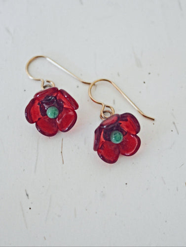 Poppy Glass Earrings