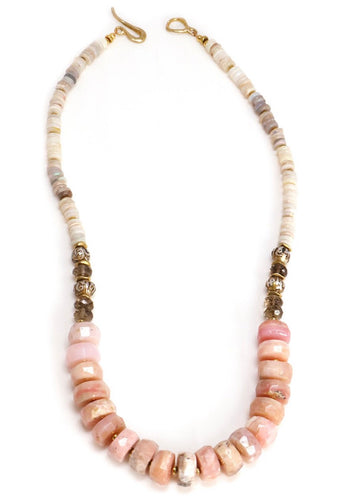 Pink Opal Statement Necklace