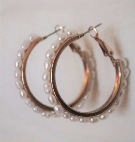 Rice Pearl Hoops