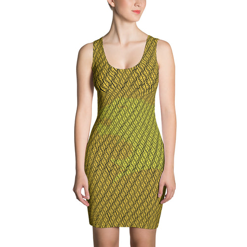 GOLDEN ALPHA PATTERN DRESS