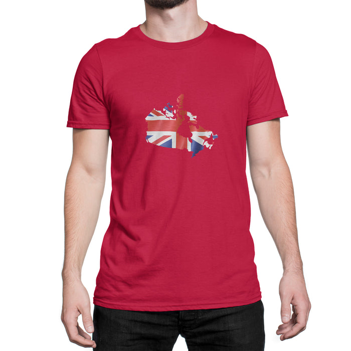 Canada / UK Mens Ex Patriot T Shirt in Red