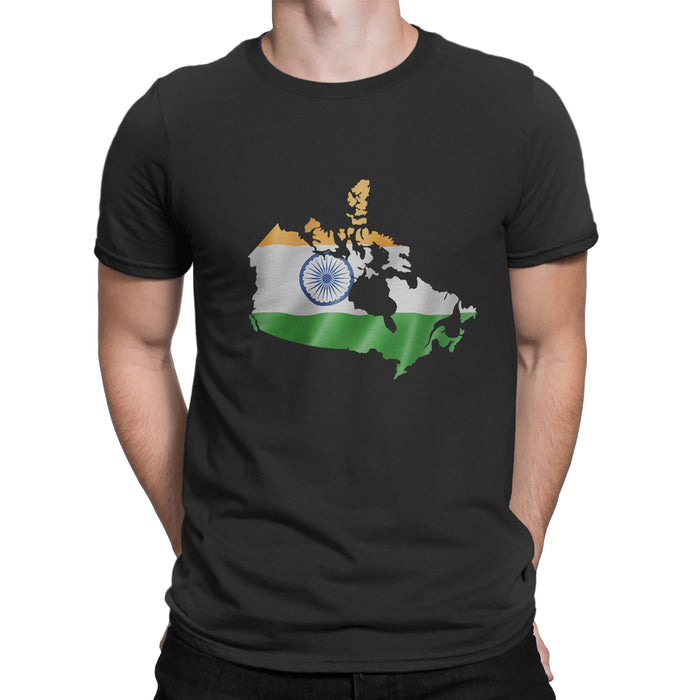 India / Canada Men's Ex Patriot T Shirt in Black