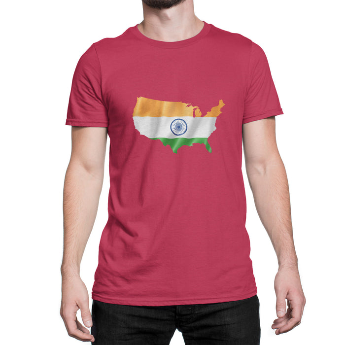 India / USA Men's Ex Patriot T Shirt in Red