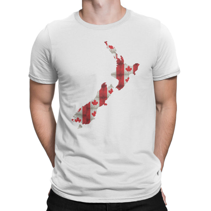 New Zealand / Canada Mens Ex Patriot T Shirt in White