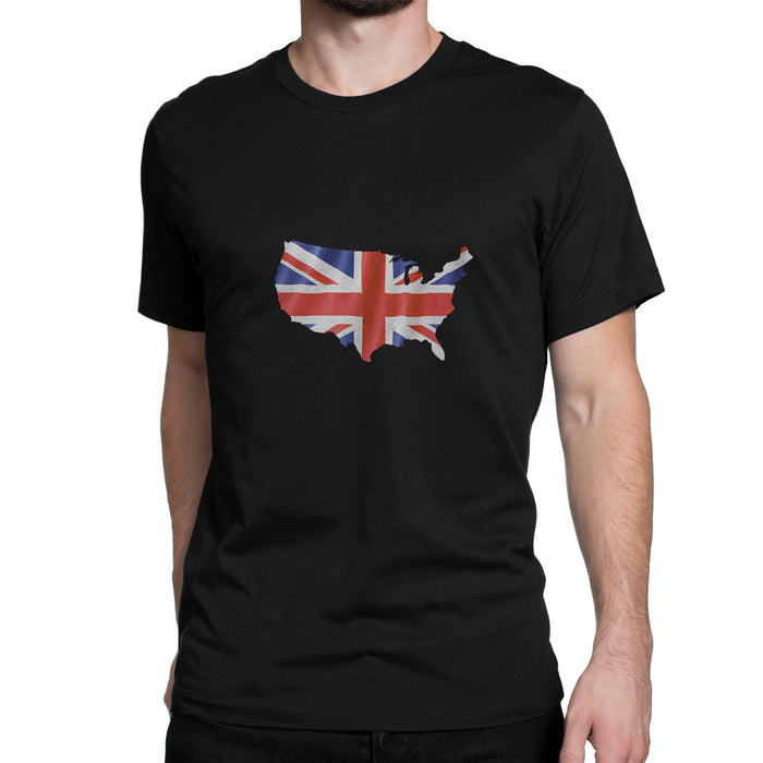 USA/UK Mens Ex Patriot T Shirt in Black
