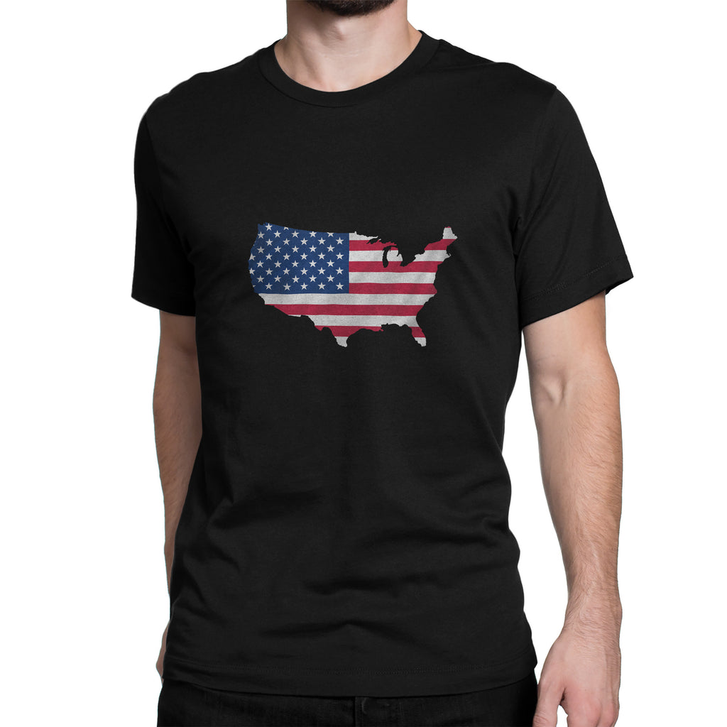 USA Men's Ex Patriot T Shirt in Black