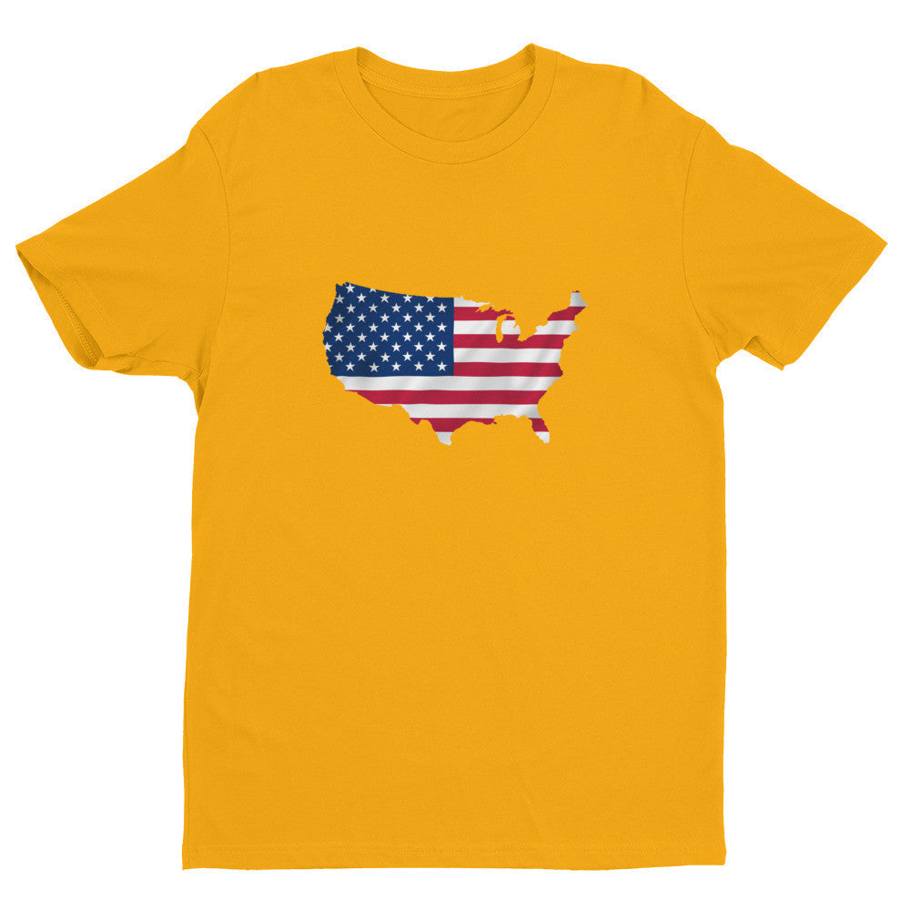 USA Men's Ex Patriot T Shirt in Gold