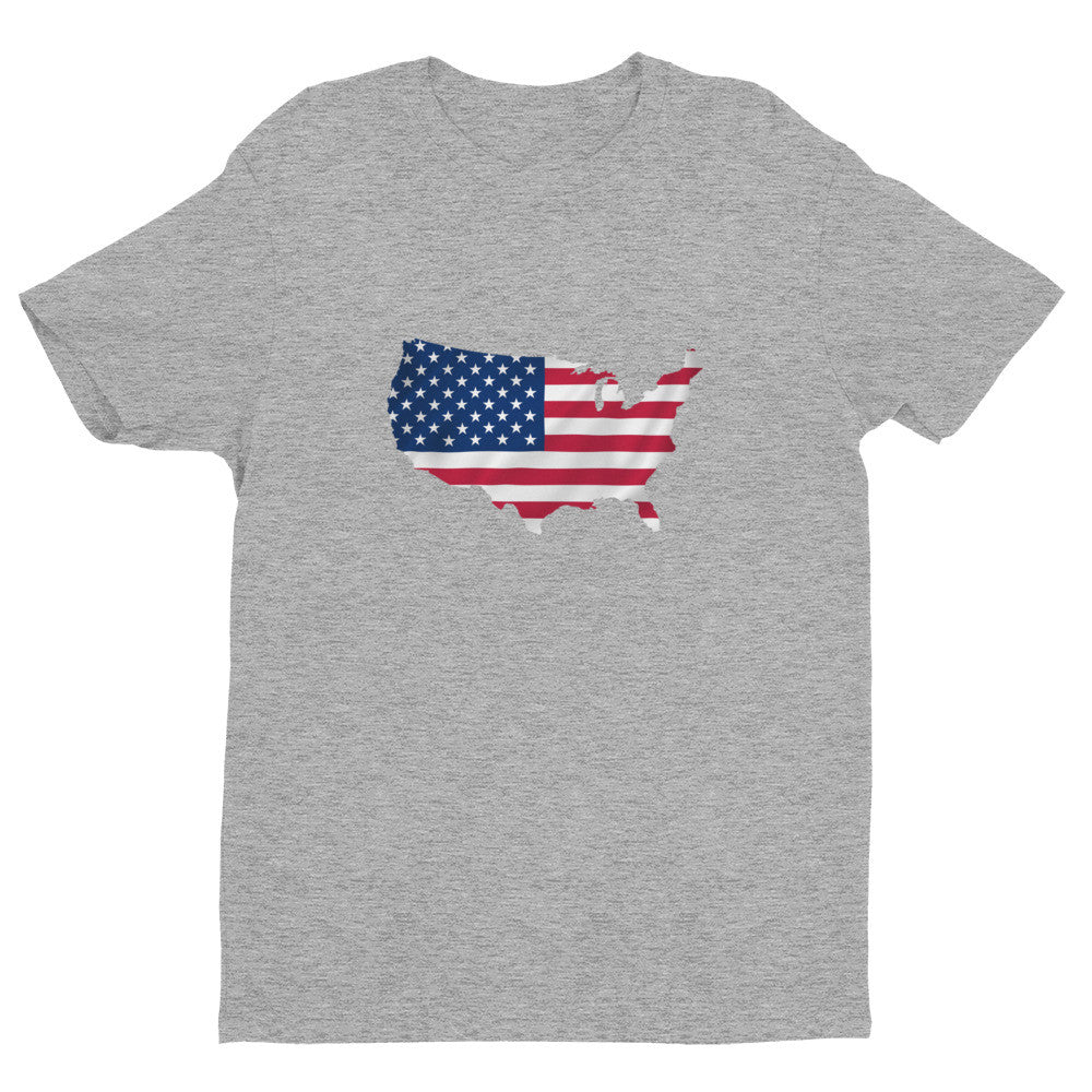 USA Men's Ex Patriot T Shirt in Grey
