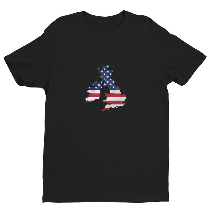 UK / USA Mens Ex Patriot T Shirt in Black