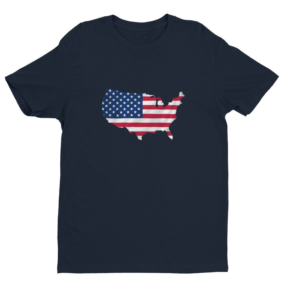 USA Men's Ex Patriot T Shirt in Blue
