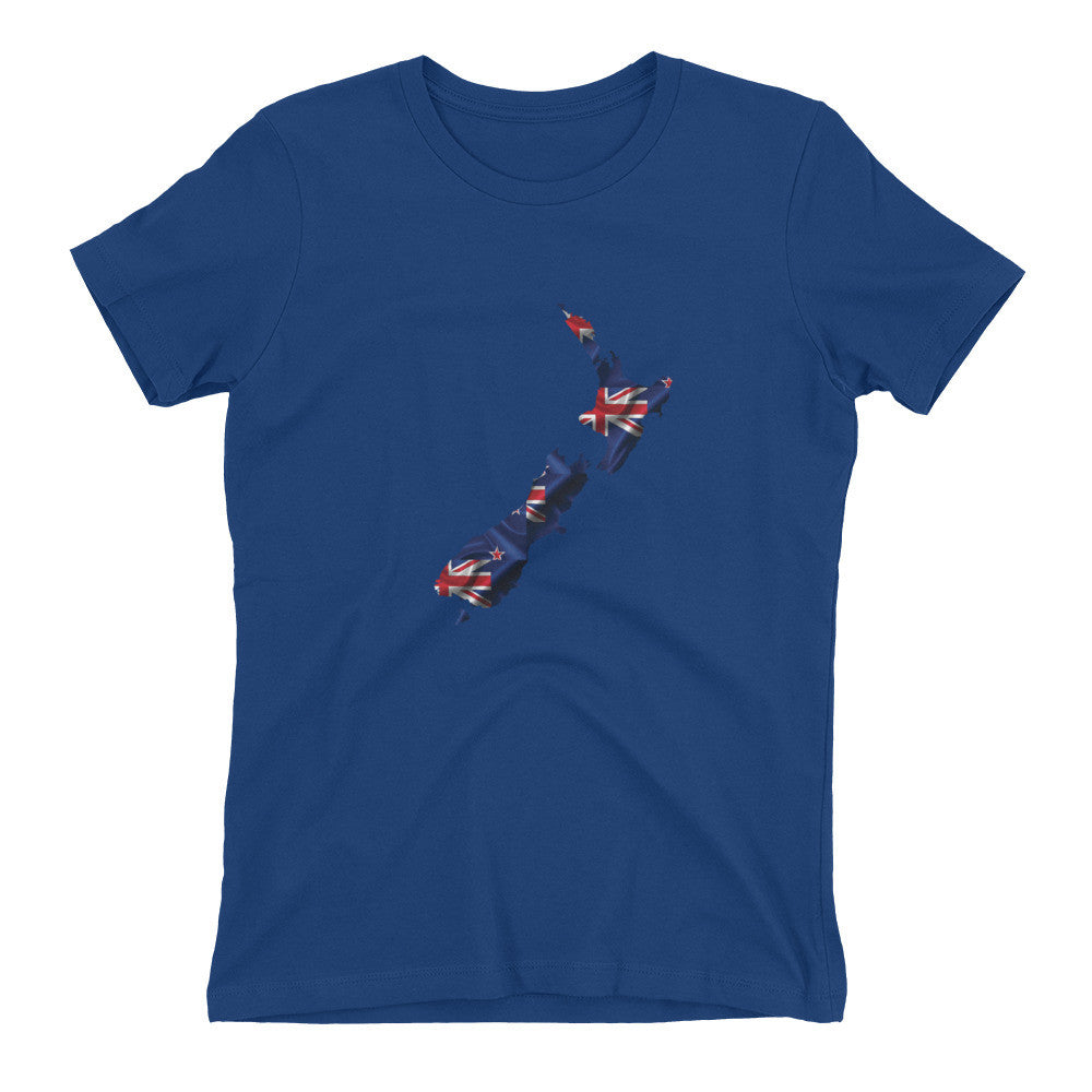 New Zealand Womens Ex Patriot T Shirt in Royal Blue