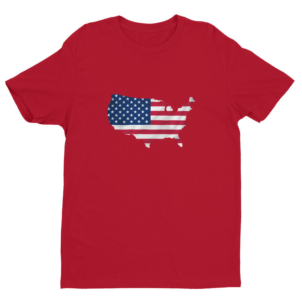 USA Men's Ex Patriot T Shirt in Red