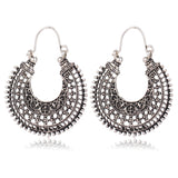 EDD Womens Hoops Metal Silver Earrings