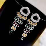 EDD Colorful Chandelier CZ Earrings